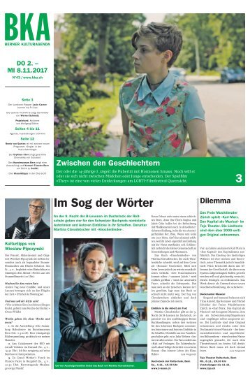 Berner Kulturagenda 2017 N° 43