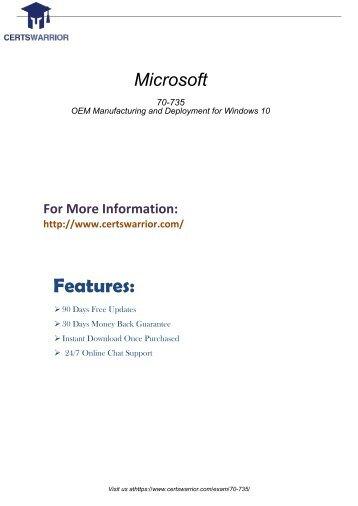 70-735 Practice Software