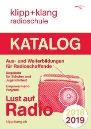 Katalog 2018/19 – Radioschule klipp+klang
