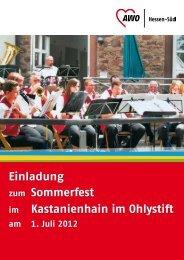 Einladung zum Sommerfest im Kastanienhain ... - AWO Hessen-Süd
