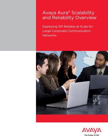 Avaya Aura® Scalability and Reliability Overview
