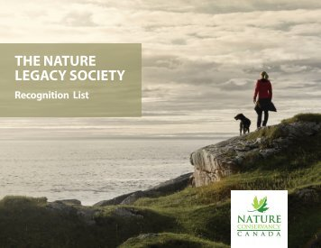 Nature Legacy Society recognition list 2017