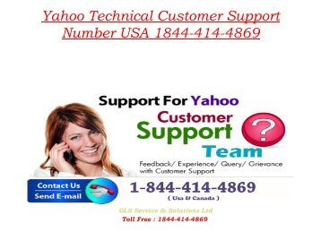 how to call yahoo customer support