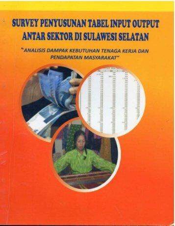 Buku Survey Penyusunan Tabel 2011 Balitbangda prov Sulsel