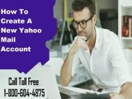 How To Create a New Yahoo Mail Account? 18006044875
