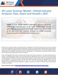 2D Laser Scanner Market Size, Share and Growth till 2021