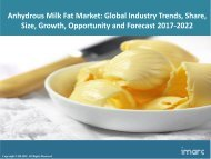 Global Anhydrous Milk Fat Market Share, Size , Price Trends and Forecast 2017-2022