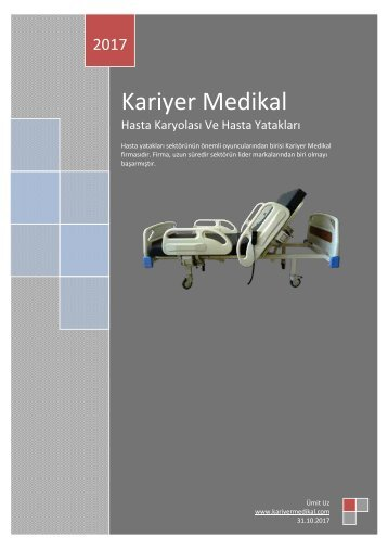Kariyer Medikal Hasta Karyolası