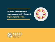 Where to start with your community impact