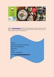 Thai Vegetarian Cooking Schools in Phuket