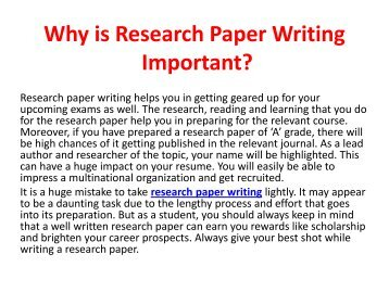 group work research paper The experiment: say you have just conducted the milgram studynow you want to write the research paper for it (milgram actually waited two years before writing about his study) here's a shortened example of a research article that might have been written.