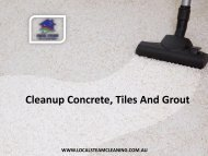 Cleanup Concrete, Tiles And Grout - Local Steam Cleaning