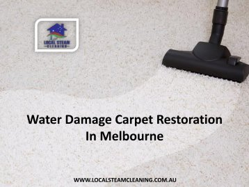 Water Damage Carpet Restoration In Melbourne