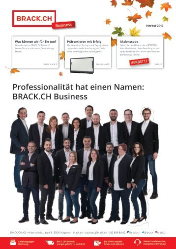 BRACK.CH Business Herbst-Flyer 2017