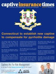Captive Insurance Times issue 135