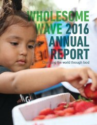 Wholesome Wave 2016 Annual Report