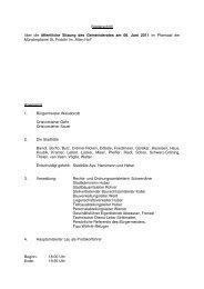 Niederschrift über die öffentliche Sitzung des Gemeinderates am 06 ...