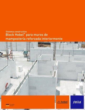 Sistema constructivo Block Hebel® para muros de mampostería reforzada interiormente