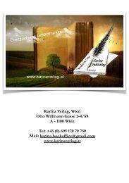 Messekatalog Karina-Verlag, Wien