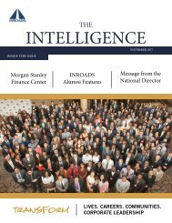 INROADS THE INTELLIGENCE - NOVEMBER 2017 ISSUE