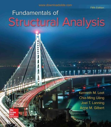 Fundamentals of Structural Analysis Fifth Edition