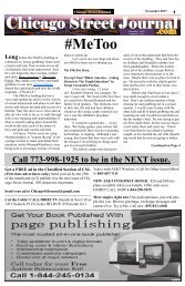 My #METOO Story - Chicago Street Journal for Wednesday, November 1, 2017