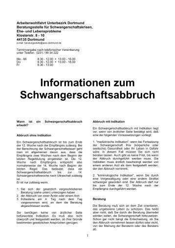 Informationen zum Schwangerschaftsabbruch - AWO Dortmund