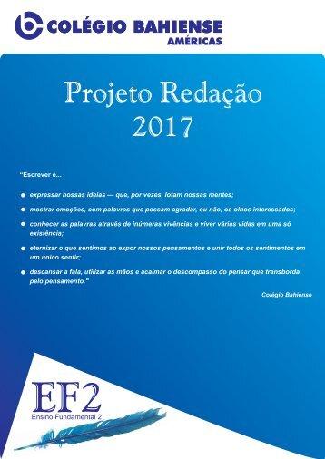 Projeto Redação 2017 - Ensino Fundamental 2 - Américas