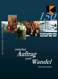 Zwischen Auftrag und Wandel, 150 Jahre Kolpingfamilie wzl