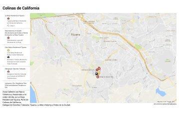 Kami Export - Colinas de California - La Rioja Residencial Tijuana - Coto Bahía - Mapa con Puntos Críticos de la Violencia e Inseguridad de la Zona