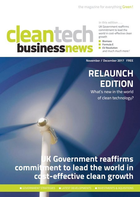 Cleantech Business News NovDec 2017