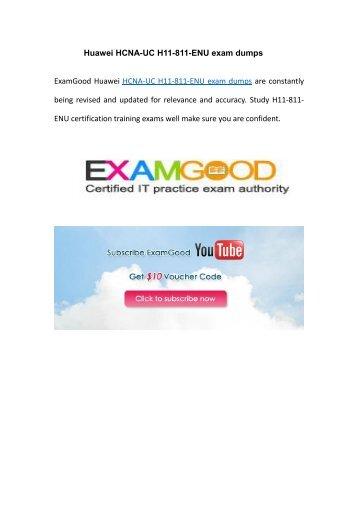 Examgood Huawei HCNA-UC (Unified Communication) H11-811-ENU real exam dumps