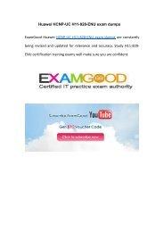 Examgood Huawei HCNP-UC(Fast Track) H11-828-ENU exam dumps