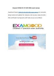 Examgood Huawei HCNA-VC H11-851-ENU exam dumps questions