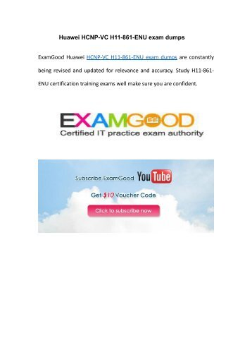 Examgood H11-861-ENU HCNP-VC practice dumps
