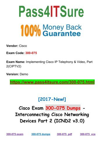 Latest Updated Cisco 300-075 Dumps Exam Q&As