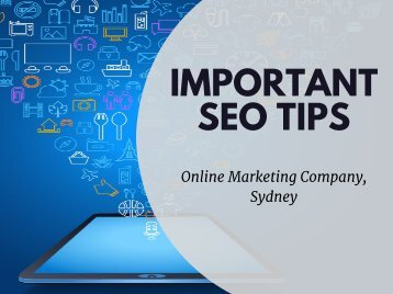 Important SEO Tips - Online Marketing Company