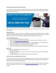 Common Print Quality Issues with Lexmark Printer