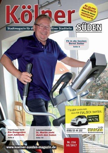 Kölner Süden Magazin November 2017