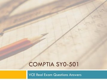 CompTia SY0-501 VCE