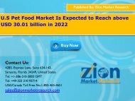 Global Pet Food Market, 2016 – 2022