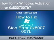 Dial 18002201041 Fix Windows Activation error 0x8007007b