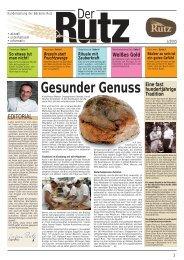 Gesunder Genuss - Bäckerei Rutz GmbH