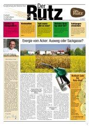 Energie vom Acker: Ausweg oder Sackgasse? - Bäckerei Rutz GmbH