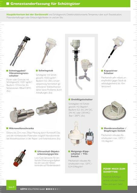 GÖTH Solutions Produktbroschüre