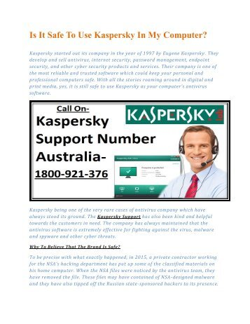 Is It Safe To Use Kaspersky In My Computer?