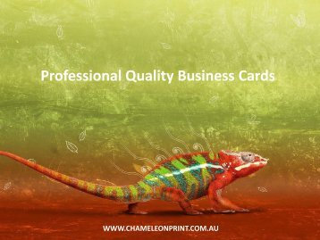 Professional Quality Business Cards - Chameleon Print Group