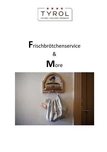 Frühstückskarte 2018 Deutsch