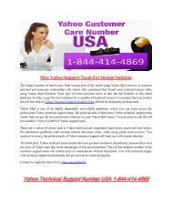 Hire Yahoo Support Team For Instant Solution 1877-503-0107