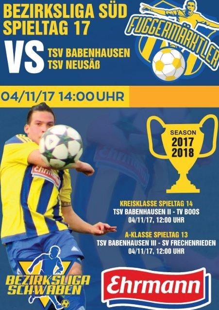20171104 Fuggermärktler TSV 1862 Babenhausen – TSV Neusäß
